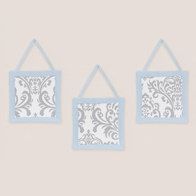 Avery Blue and Gray Wall Hangings