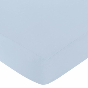 Avery Blue Fitted Crib Sheet
