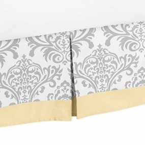 Avery Yellow and Gray Full/Queen Bed Skirt