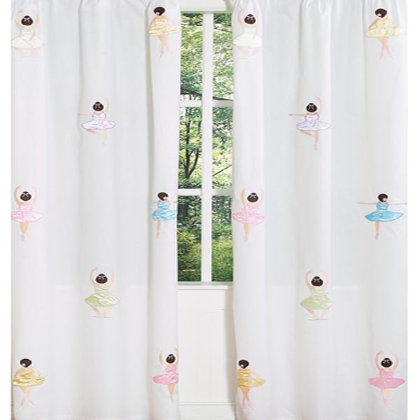 Ballerina Window Curtain Panels