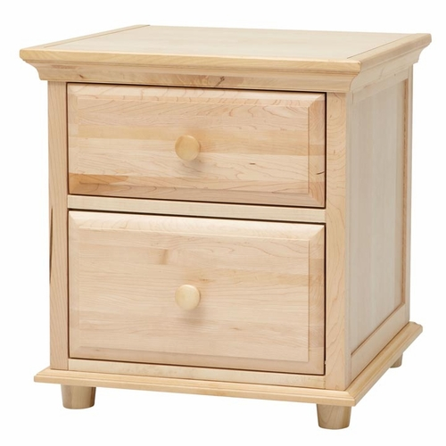Natural Nightstand with Crown & Base