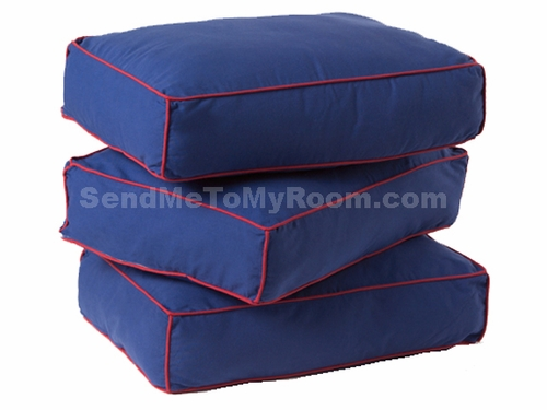 Blue/Red Back Pillows (set of 3)