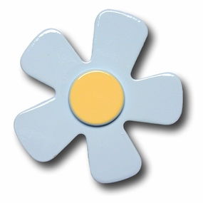 Blue w/Yellow Center Daisy Drawer Pull