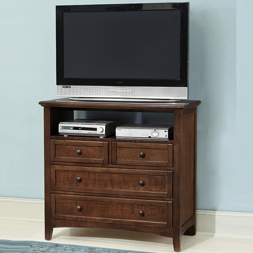 Boulevard 4 Drawer Media Chest in Cherry