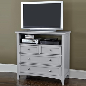 Boulevard 4 Drawer Media Chest in Grey