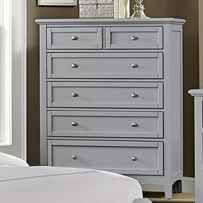 Boulevard 5 Drawer Chest in Grey