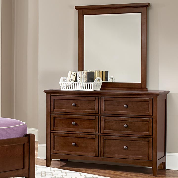 Boulevard 6 Drawer Double Dresser in Cherry