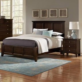 Boulevard Queen and King Mansion Bed in Merlot