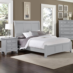 Boulevard Queen and King Sleigh Bed in Grey