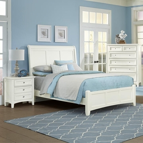 Boulevard Queen and King Sleigh Bed in White