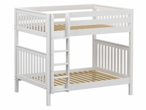 Buff Full/Full HIGH Bunk Bed with Straight Ladder