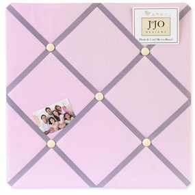 Butterfly Pink and Lavender Fabric Memo Board