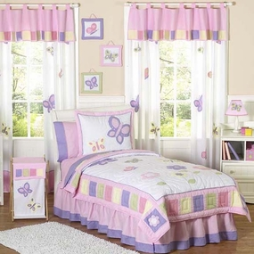 Butterfly Pink & Lavender Kids Bedding Collection