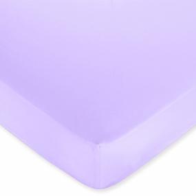 Butterfly Pink & Lavender Purple Fitted Crib Sheet