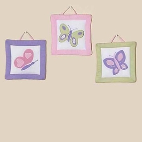 Butterfly Pink & Lavender Wall Hangings