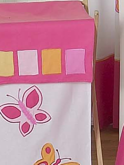 Butterfly Pink & Orange Laundry Hamper