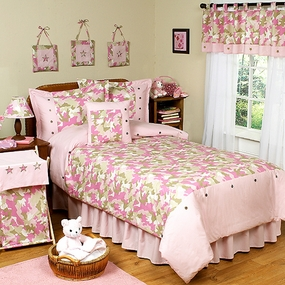Camo Pink Kids Bedding Collection