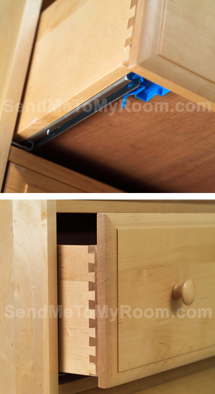 Chestnut Nightstand with Crown and Open Base