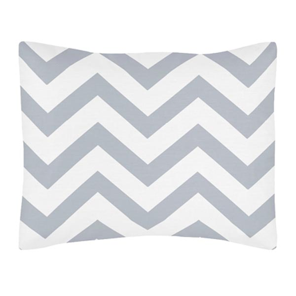 Chevron Gray and White Pillow Sham