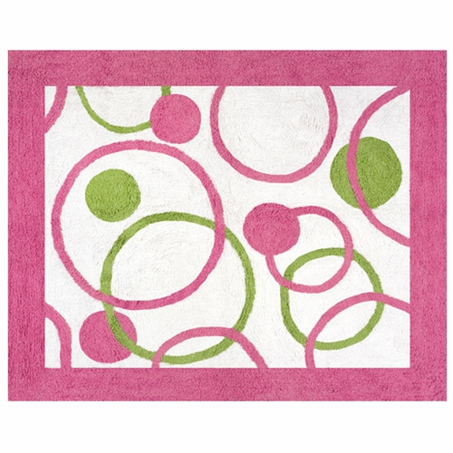 Circles Pink Accent Floor Rug
