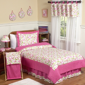 Circles Pink Kids Bedding Collection