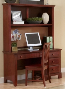 Hamlet Computer Desk shown with optional Hutch Top in Cherry