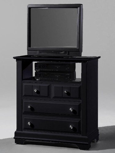 Country Media Cabinet in Black