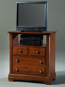 Country Media Cabinet shown in Cherry