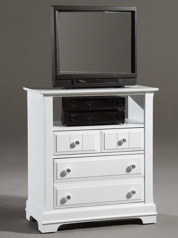 Country Media Cabinet in Snow White