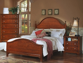 Country Panel Bed shown in Cherry