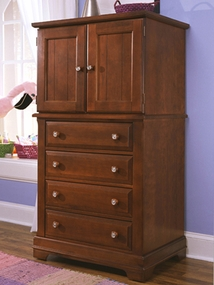 Country Vanity Chest shown in Cherry