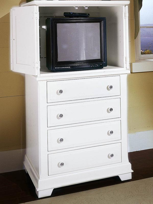 Country Vanity Chest in Snow White