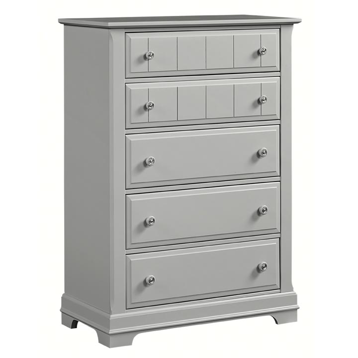 Country 5 Drawer Chest in Gray