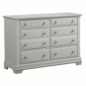 Country 6 Drawer Double Dresser in Gray
