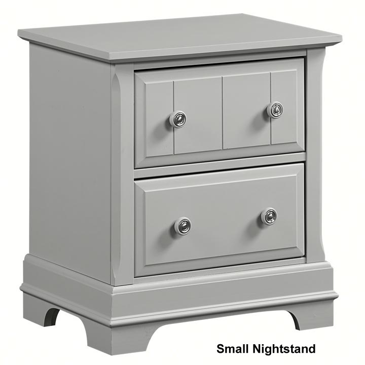 Country 9 Drawer Dresser shown with optional Mirror in Gray