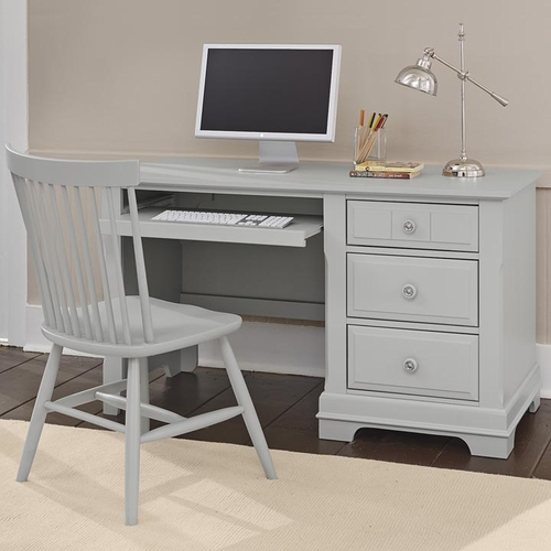 Country Computer Desk in Gray