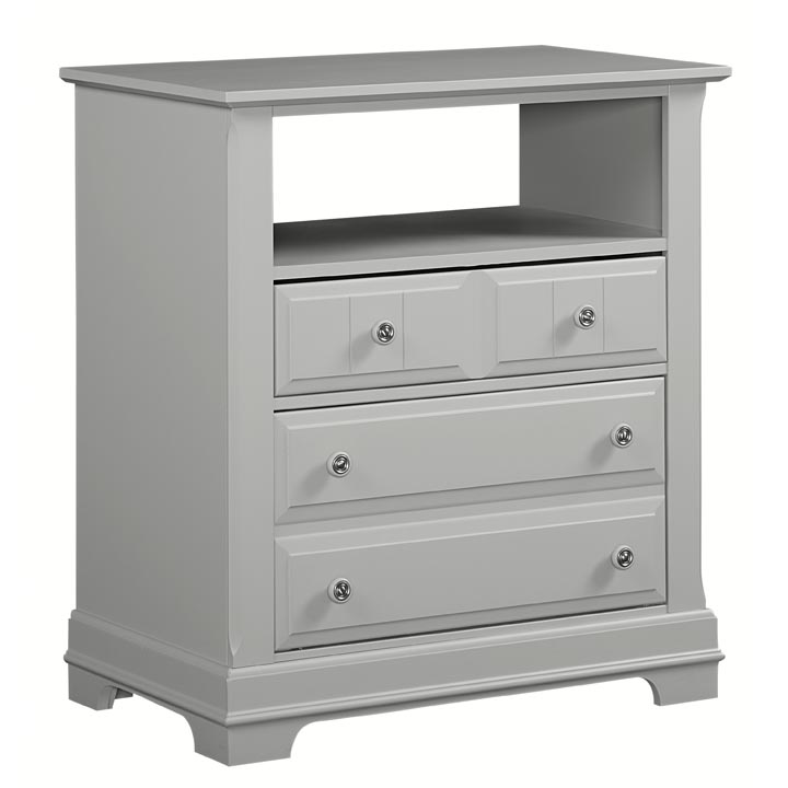 Country Media Cabinet in Gray