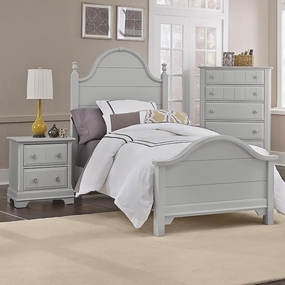 Country Panel Bed in Gray