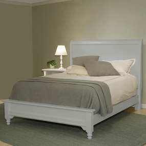 Country Sleigh Bed in Gray