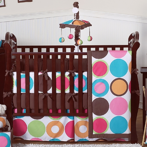 Deco Dot Collection 9 pc Crib Bedding Set