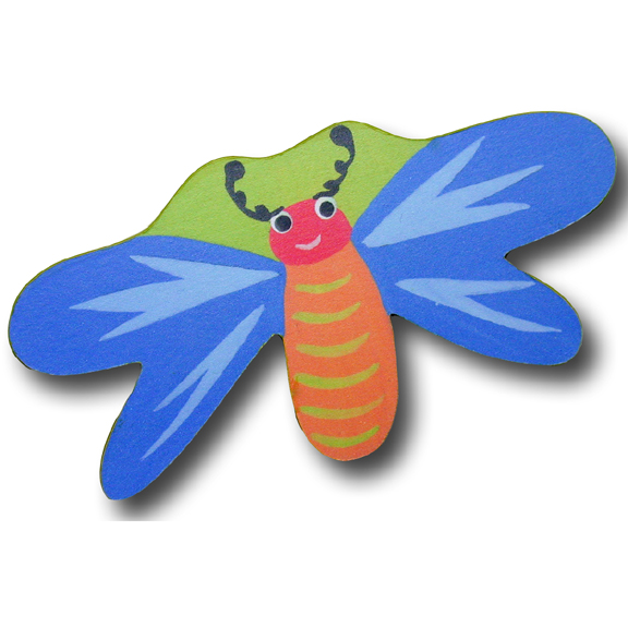 Dragonfly Blue/Green Drawer Pull