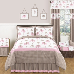 Elephant Pink Kids Bedding Collection