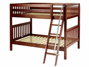 Fat Full/Full Medium Bunk Bed with Angled Ladder