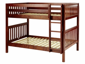 Fit Full/Full Medium Bunk Bed with Straight Ladder