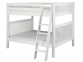 Full/Full Mission Bunk Bed with Angled Ladder in White