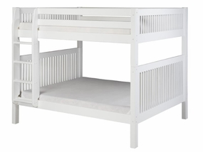 Full/Full Mission Bunk Bed with Straight Ladder in White
