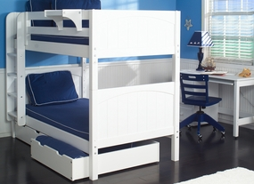 Get It 1 Twin/Twin Medium Bunk Bed with Straight Ladder and 2-Drawers
