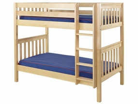 Get It Twin/Twin Medium Bunk Bed with Straight Ladder