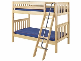Got It Twin/Twin Medium Bunk Bed with Angled Ladder