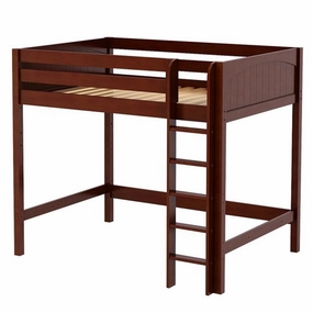 Grand Full High Loft Bed with Straight Ladder